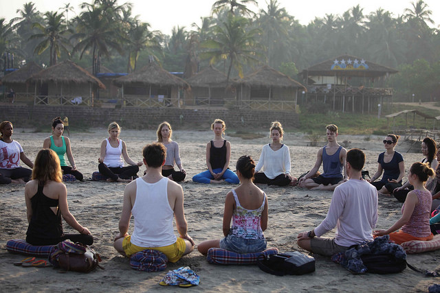 None of these are me, but one of them could be you. Look at you studying in Goa without breaking your budget! (Photo credit:The Yoga People/ Flickr)