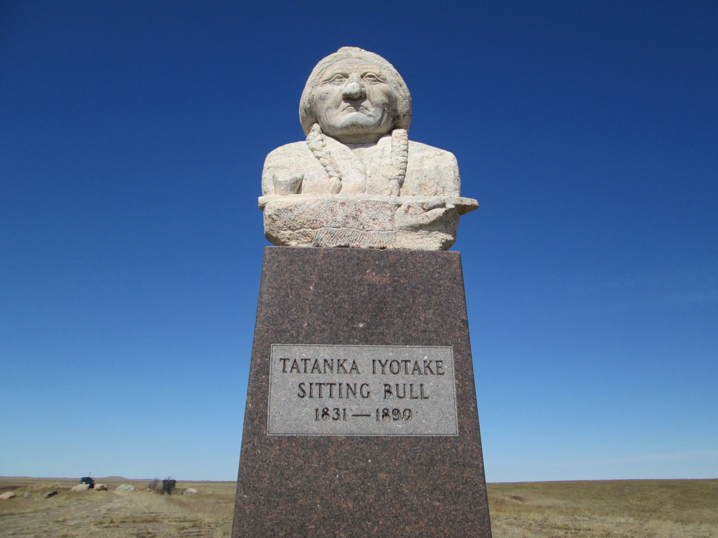 Sitting Bull Monument in Mobridge, South Dakota. Mobridge is a modern town adjacent to Standing Rock.