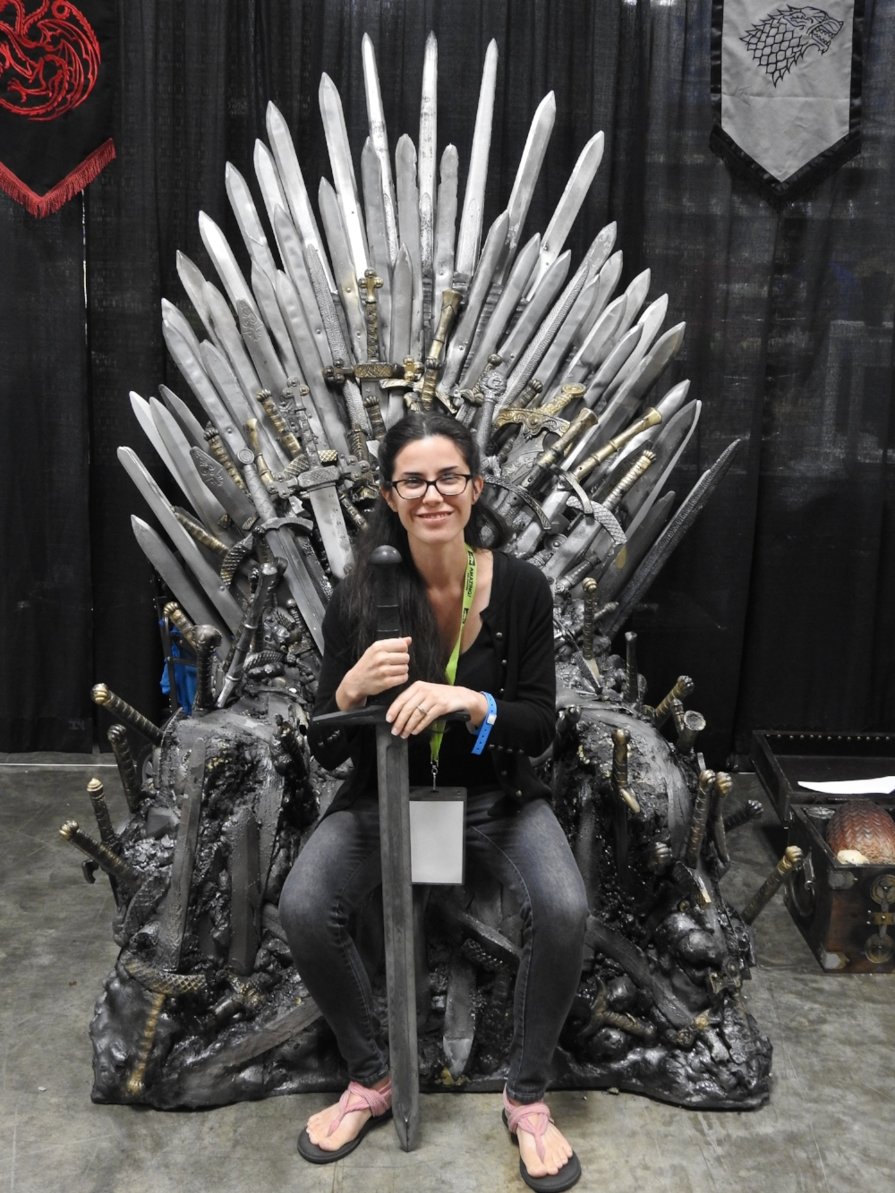 Here I am in the hot seat! The Iron Throne by  JHM Productions  was so cool! (Photo Credit: Nick Holt)