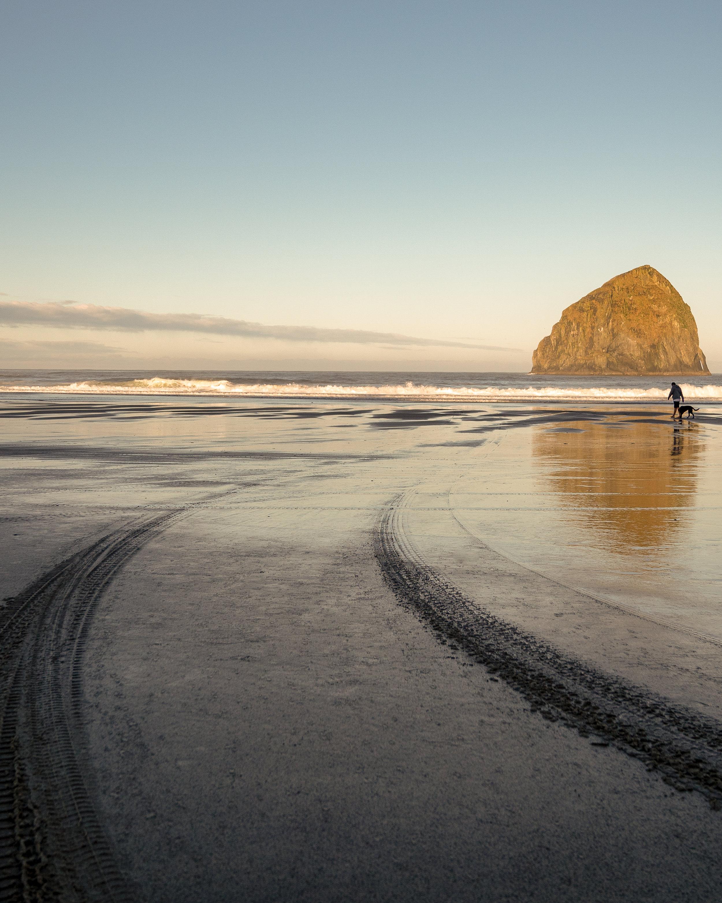 Cape Kiwanda sunrise at Pacific City Oregon.