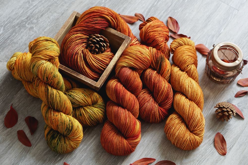 Fall yarn with autumn colors