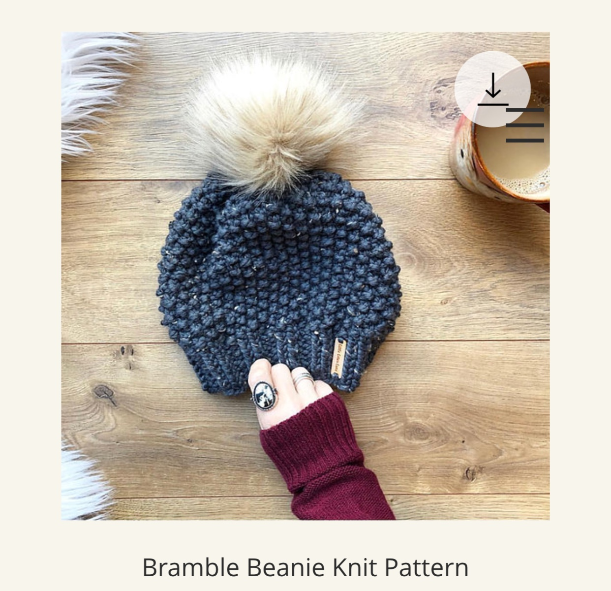 Yarn Dyeing with Laine and Lotus; Bramble Beanie Knit Pattern