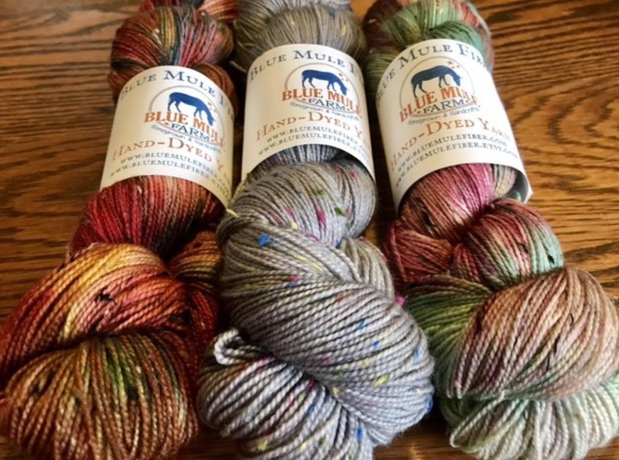 Blue Mule Fiber Yarn