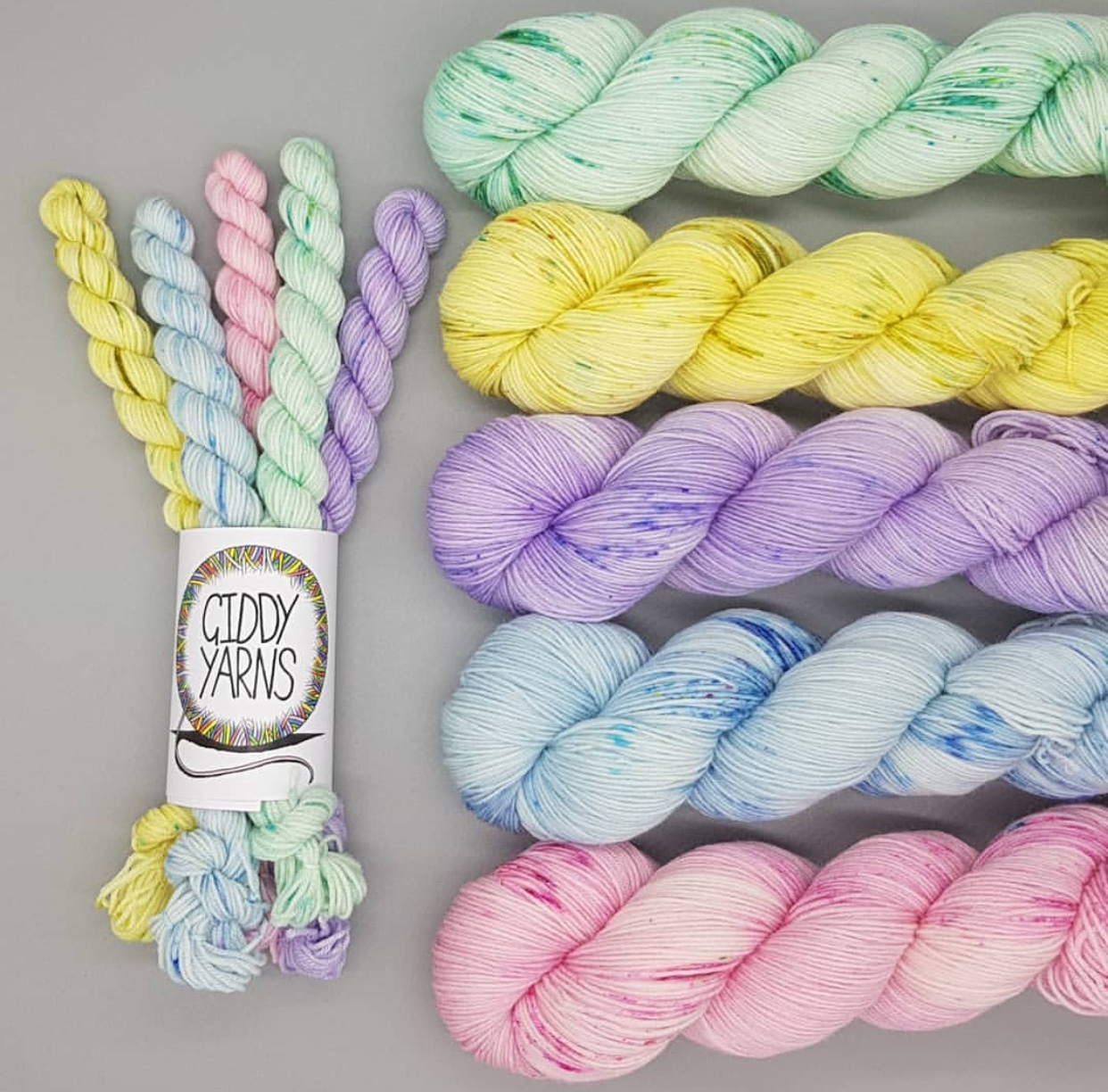 Helen of Giddy Yarns of Scotland's beautiful Spring Garden Collection