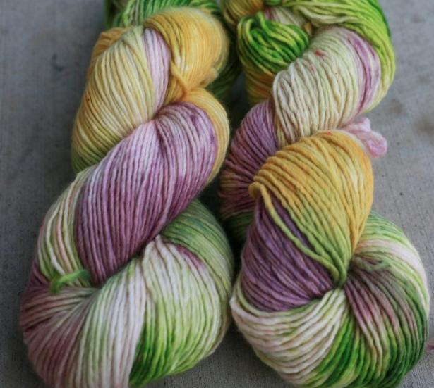 MJ's gorgeous Lilac in Grandma's Kitchen yarn