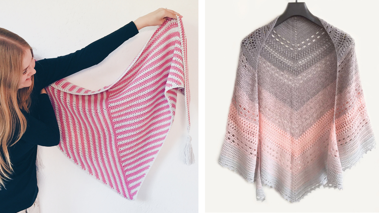Beautiful crochet shawls you can find patterns for on Wilma's website.