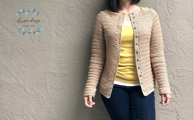 Double Crochet Spring Cardigan Crochet Pattern by Christa Co Designs