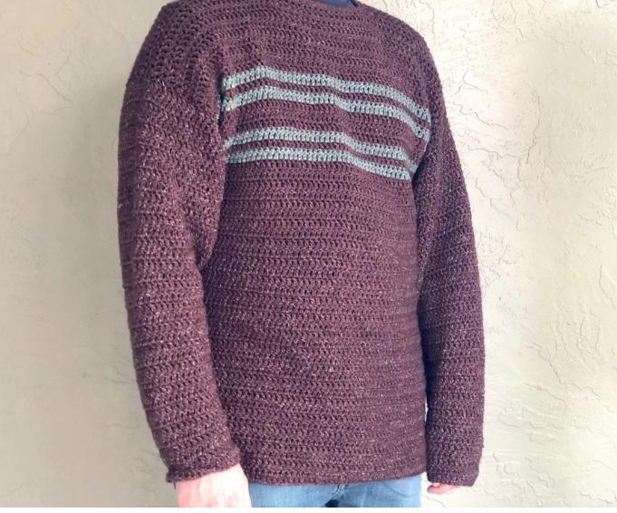 Christa Co Design's Men's Simple Sweater Double Crochet Pattern