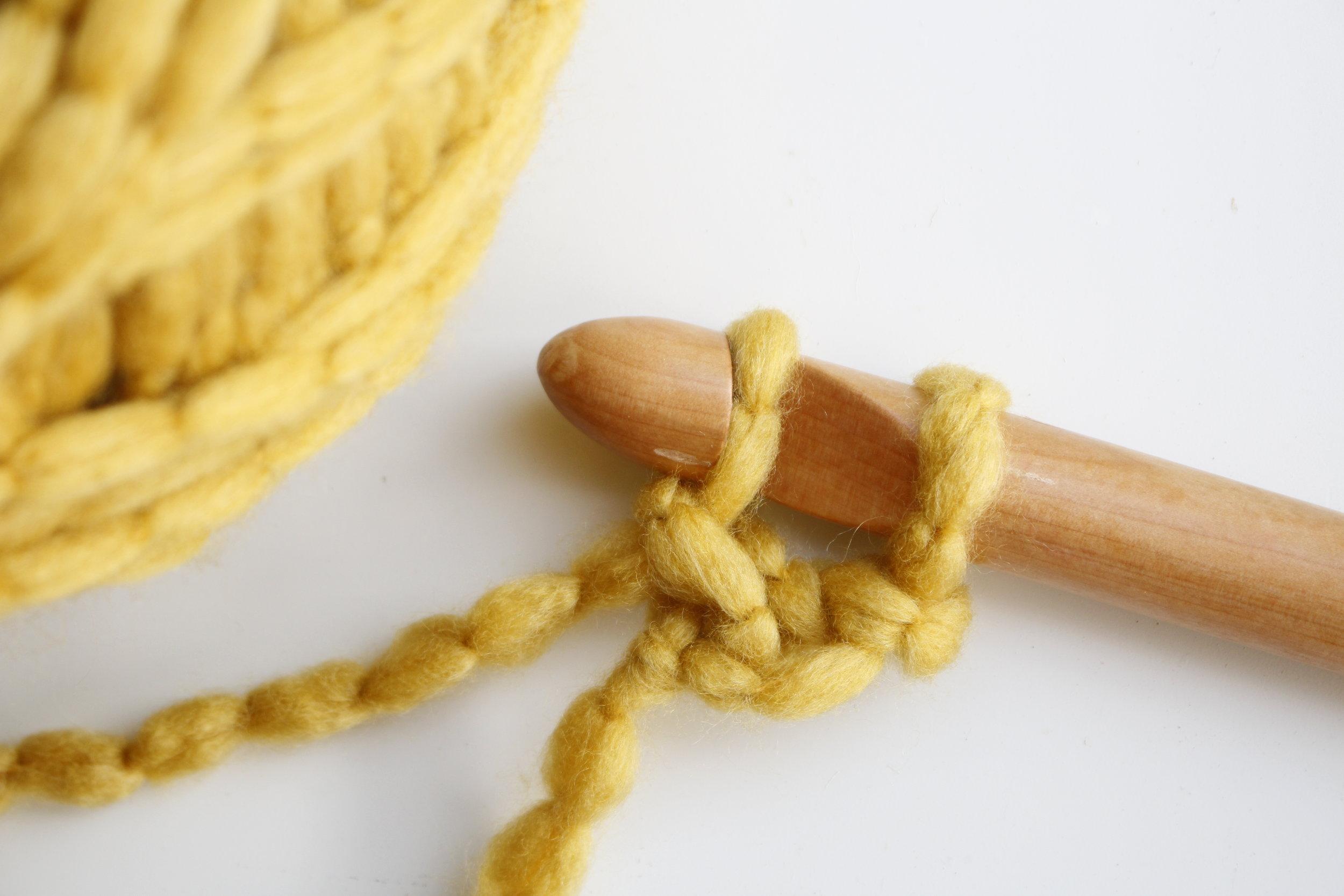 Foundational Single Crochet Stitch Tutorial Step 4