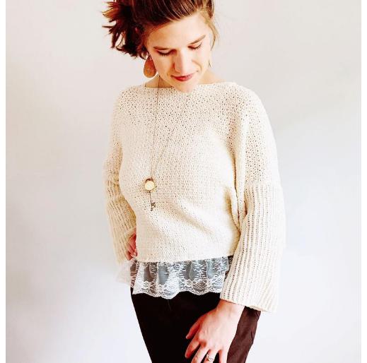 Jerica of YarnHookNeedle's Roxie Top Crochet Pattern