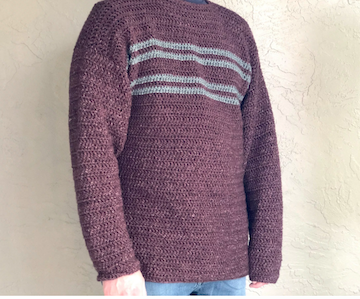 Men's Simple Striped Sweater by ChristaCoDesign