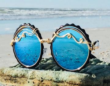 Spunglasses beautiful wire wrapped sunglasses