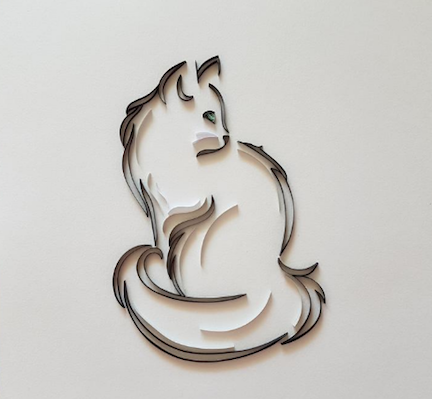 Aggie's sweet quilling cat