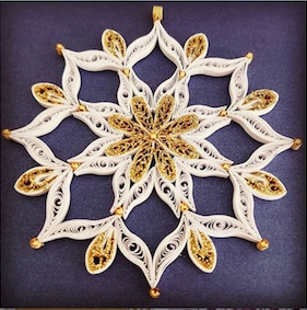 Aggie's beautiful detailed quilling snowflake