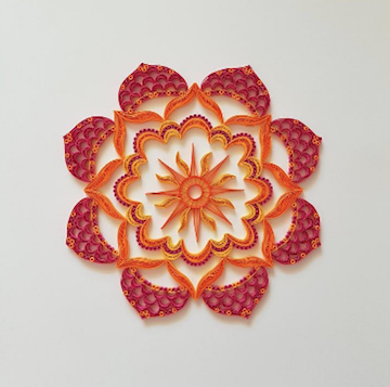 Aggie's breathtaking quilling art