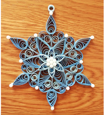 Aggie's beautiful quilling snowflake