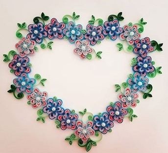Aggie's gorgeous quilling heart!