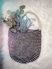 The Hook Pusher's Not Your Nonna's Market Bag Pattern using single crochet