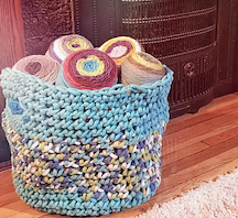 The Hook Pusher's Big Basket Single Crochet Pattern