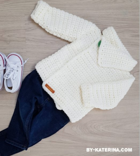By-Katerina's gorgeous Snowdrop Cardigan in kids size.