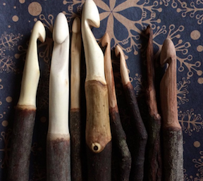 Gorgeous crochet hooks created by AlionaTerArtist