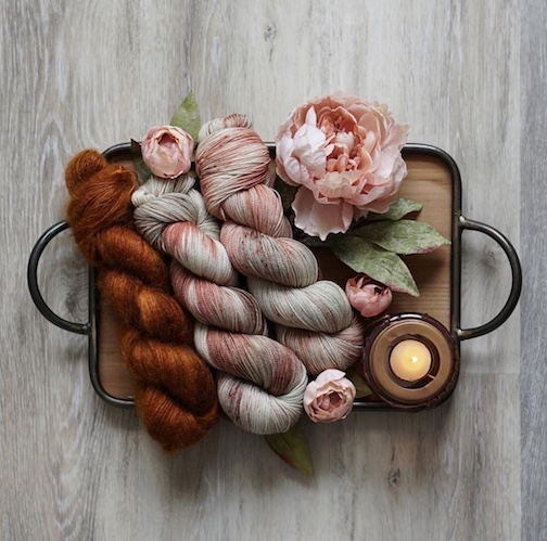 Gorgeous Eucalyptus from the Red Pansy and Whiskey on mohair.