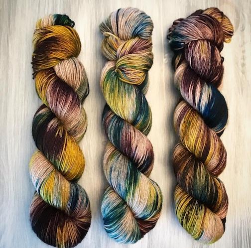 Indie Dyer /'Glowing Embers/' Hand Dyed Sock Yarn 463 yards