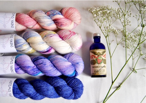 Natacha of Artemis Yarns beautiful colorways