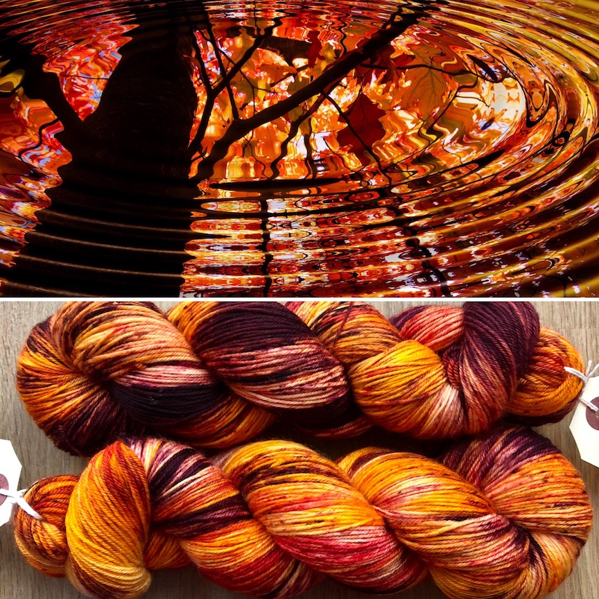 Autumn yarn with Mothy and the Squid
