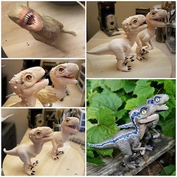Clay Dinosaurs in progress