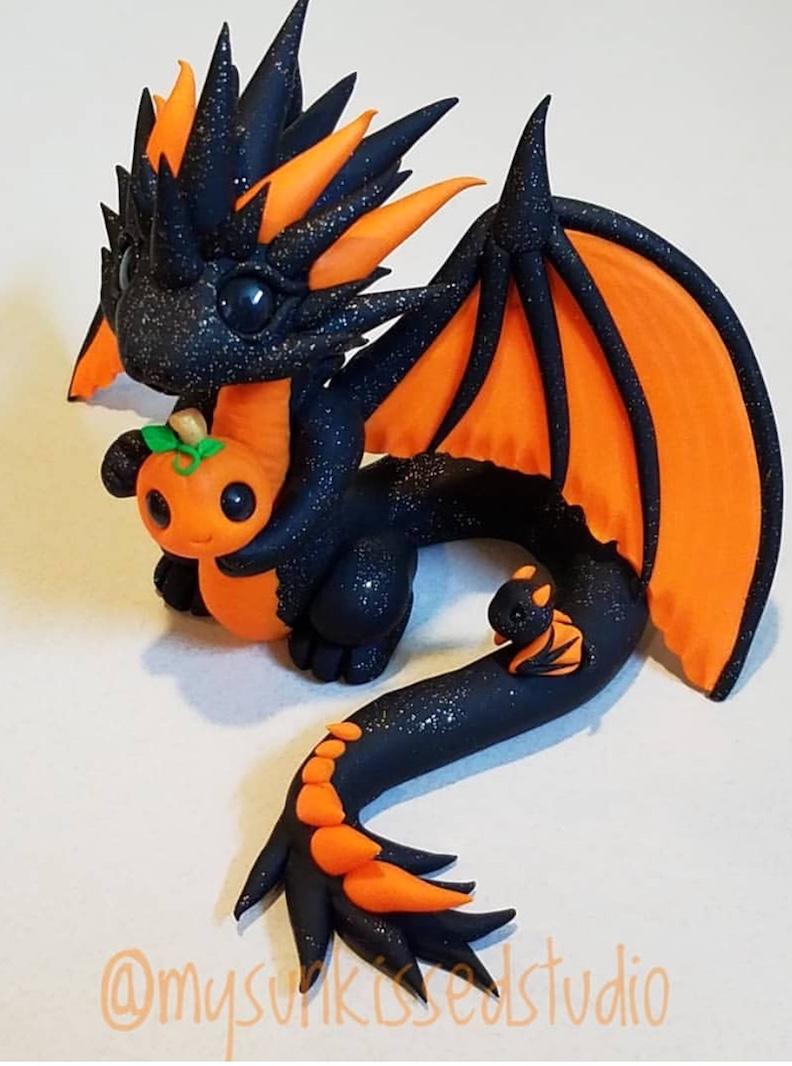 Clay Dragon Sculpture