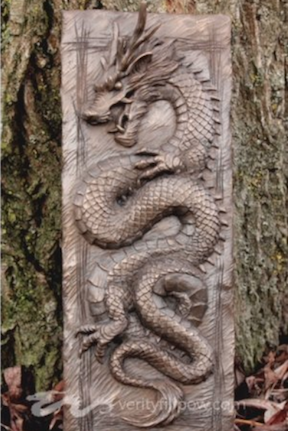 Clay Dragon Sculpture Chinese Dragon