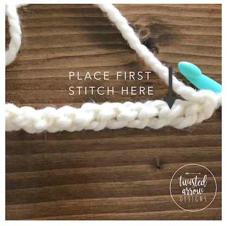 Half Double Crochet Stitch Tutorial Step 2