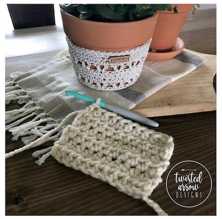 Half Double Crochet Stitch Tutorial Final Product