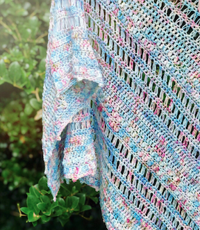 Megan's Gorgeous St. Lucie Shawl using Mixed Cluster Stitch!!!