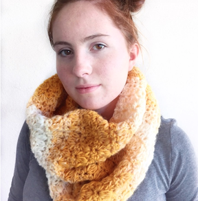 Daisy Farm Crafts beautiful Mixed Cluster Crochet Scarf