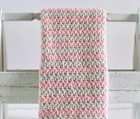 Daisy Farm Crafts Baby Blanket in Mixed Cluster Stitch