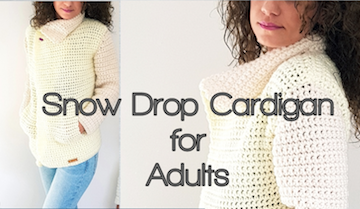 By - Katerina's Snow Drop Cardigan for Adults pattern