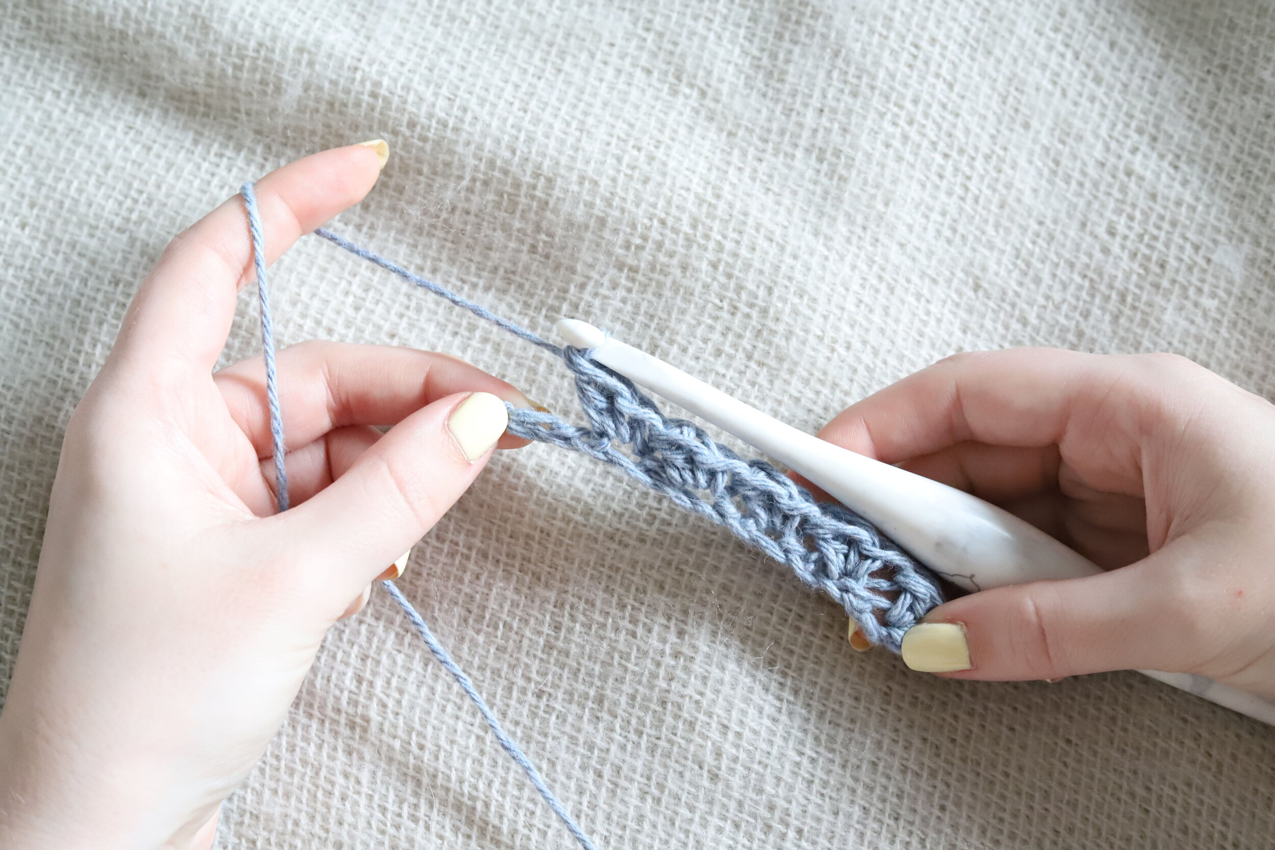 Suzette Stitch Crochet Tutorial Step 2f