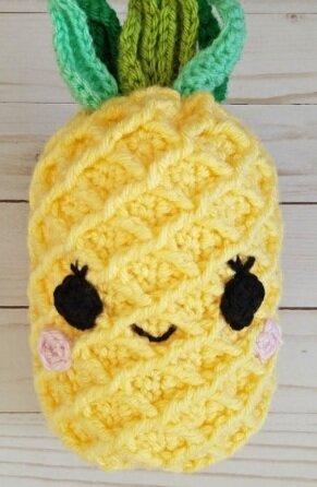 Pineapple Crochet Stuffed Toy Pattern