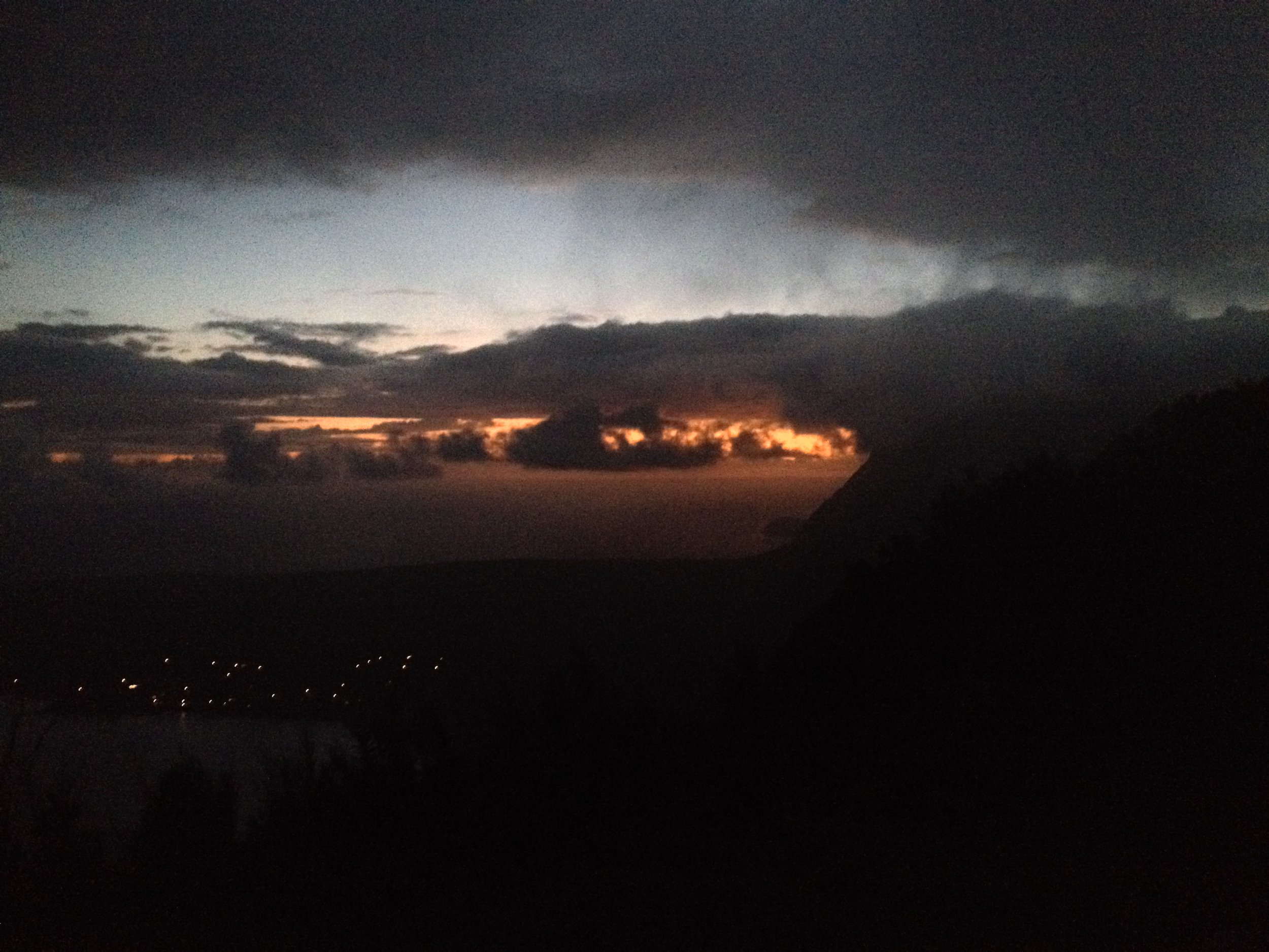 Sunrise as I watched it from the Kalaupapa Overlook on the island of Molokai, Hawaii.