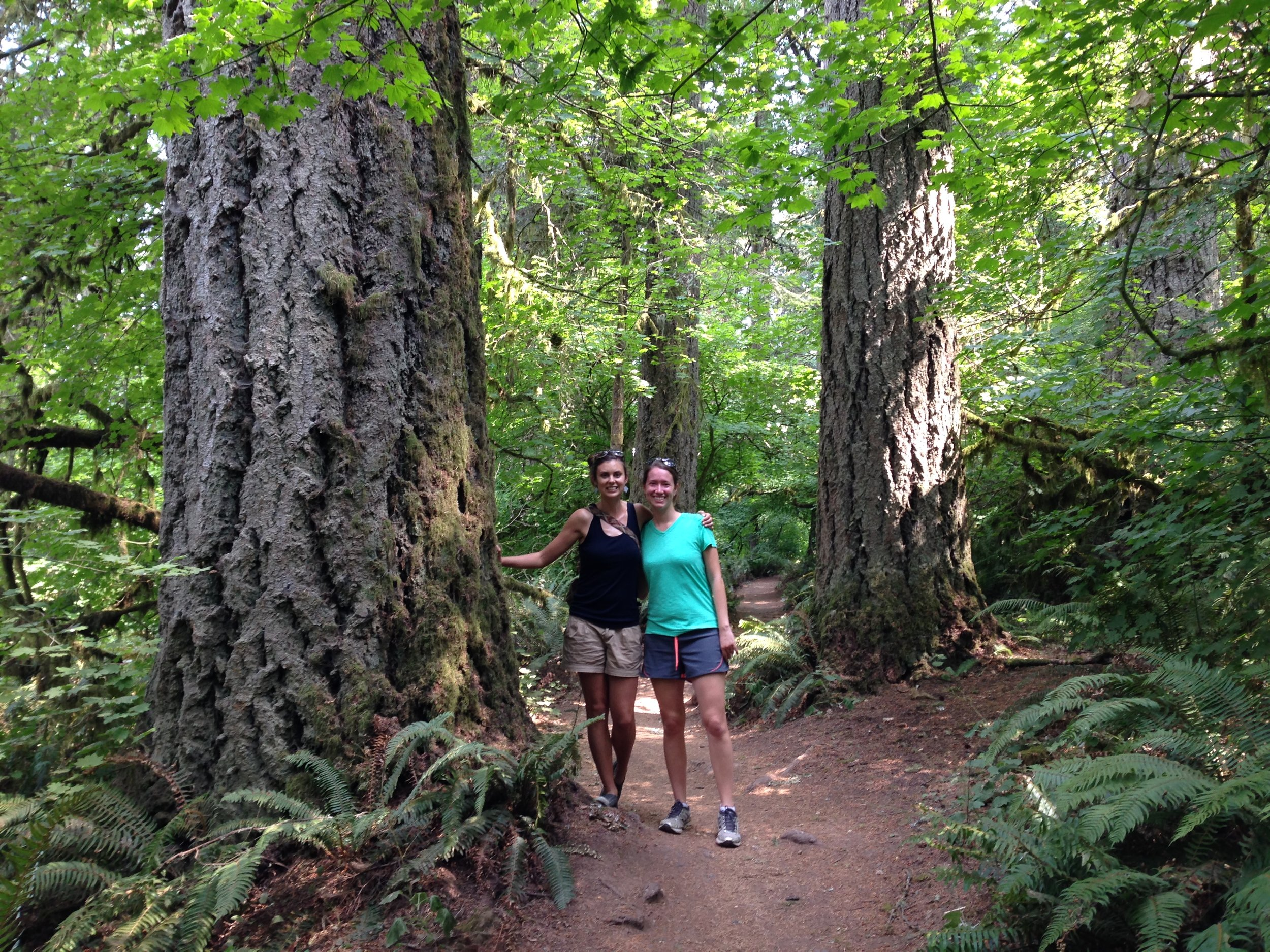 Erin Deasy (left) is my friend who is always up for an outdoor adventure, like this 2015 hike in Eugene, Oregon.