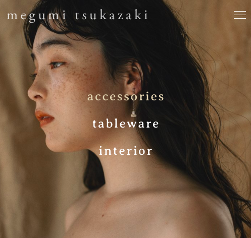 Megumi Tsukazaki/ web  photography, web design and creating content for a ceramic artist, Megumi Tsukazaki.