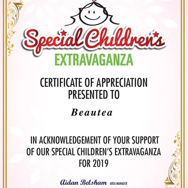 💞 We are proud to be sponsor's of this year Special Childrens Extravaganza!  Unfortunately we are all unable to make it & will miss seeing those gorgeous happy faces in person but we hope the families & children who are going have an absolutely awesome day because they deserve it! 💝 Look forward to seeing the photos. Lots of love from all the team at Beautea 🤗  #beautea #newplymouth #specialchildrensextravaganza #givingback #payitforward #deserved