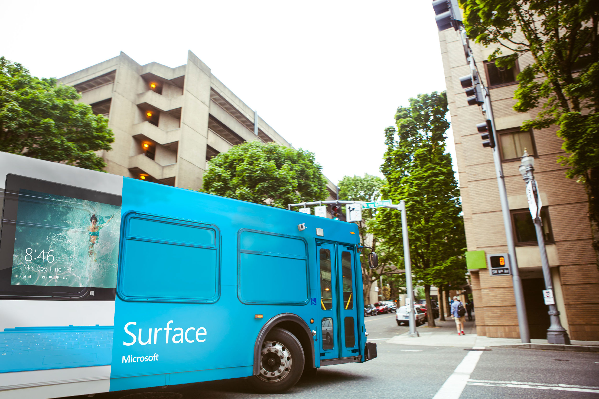 bus advertising for Microsoft Surface