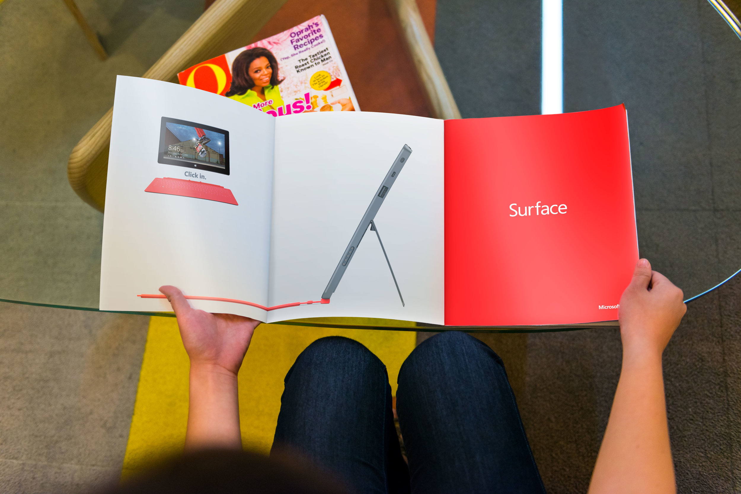 consumer tech product magazine spread ad
