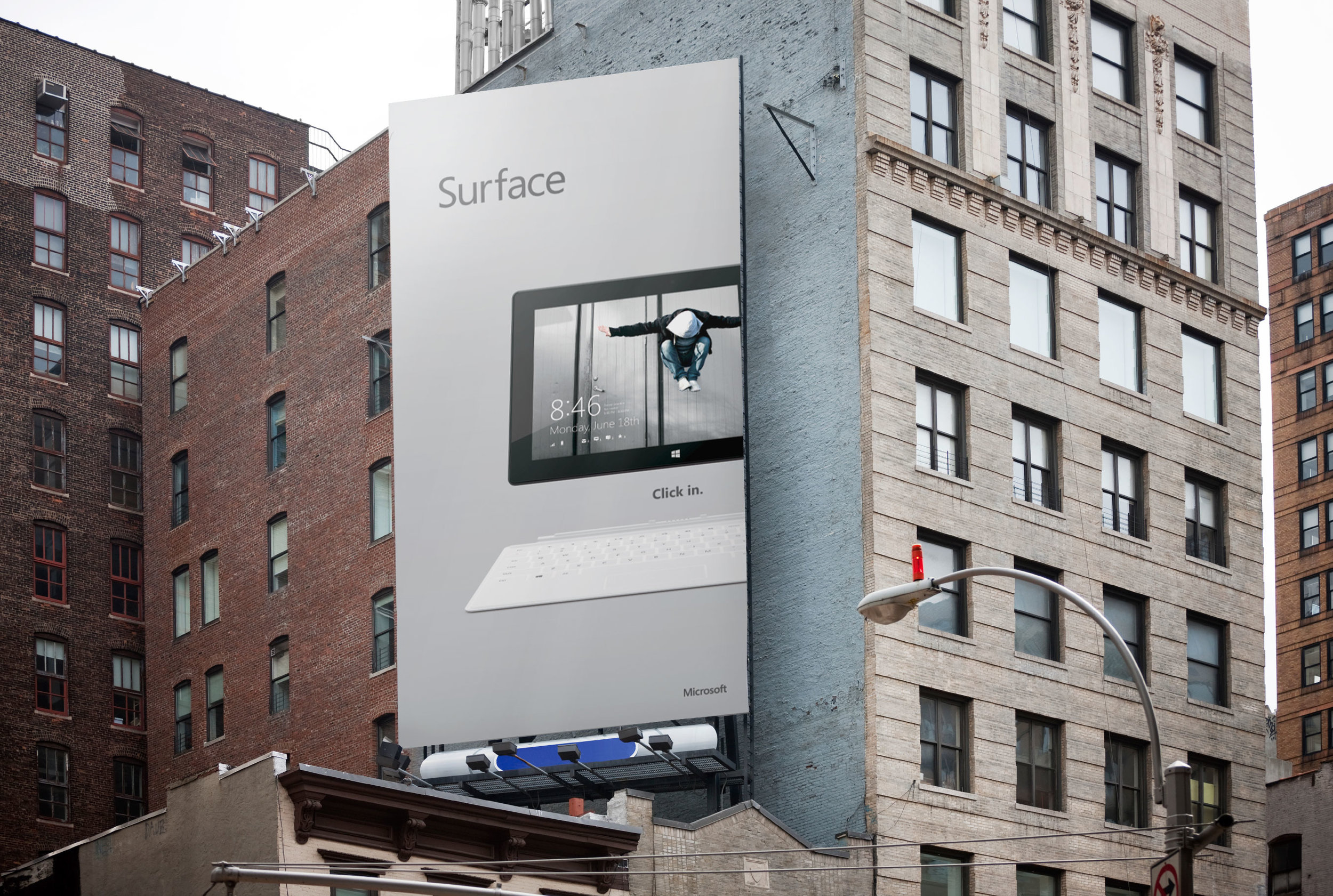 outdoor media advertising for consumer tech products