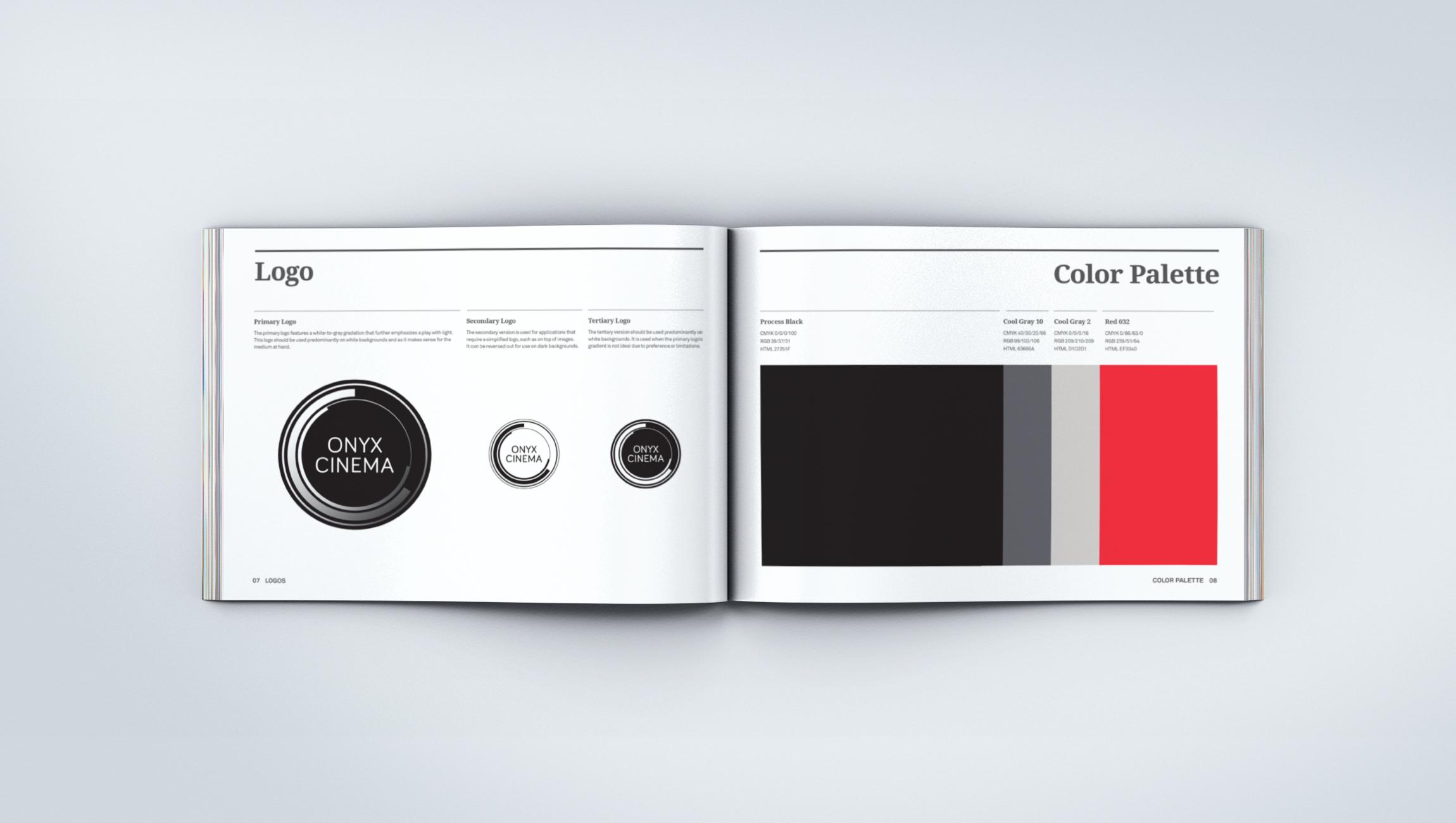 ONYX CINEMA | cinematography commercial video production | brand, print, digital, website, web design, brand guidelines