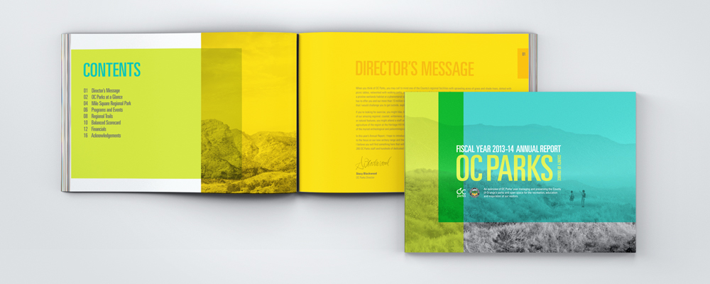OC PARKS | regional parks, wilderness parks, historical parks in Orange County | annual report, print design | nature, natural beauty