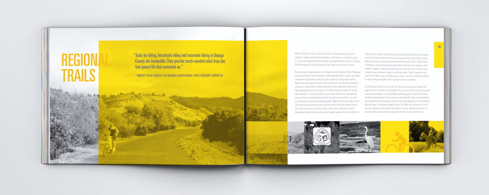 OC PARKS | regional parks, wilderness parks, historical parks in Orange County | annual report, print design | nature, natural beauty, non-profit organization